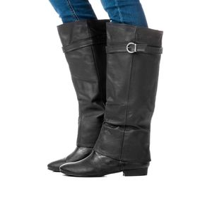 Chinese Laundry 6 Set In Stone Black Leather Boots